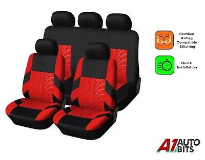 Full Seat Covers Set Protectors Red For Ford Fiesta Focus Mondeo S-Max Escort