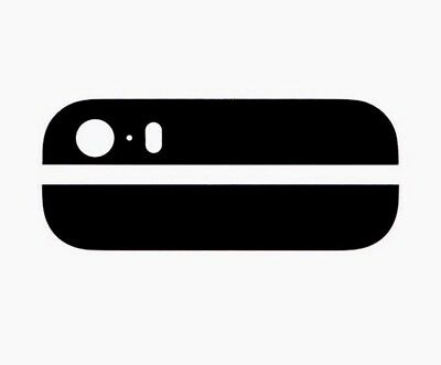 Apple iPhone 5S Replacement Back Glass Lens Cover - Pair - Black - UK