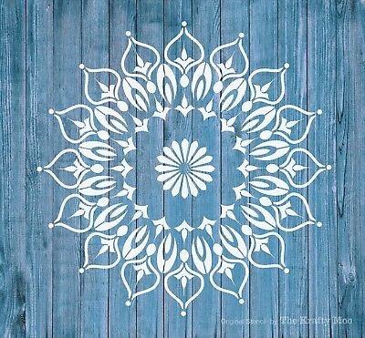 Stencil MYLAR Reusable Shabby Chic Mandala Vintage Fabric Furniture Wall Art 023