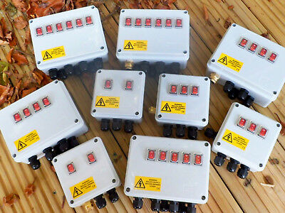 Illuminated Rocker Switch box for Ponds, Filters, Pumps Lighting etc