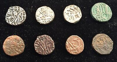 Lot of 4 different Bull & Horseman Jitals c.1100-1300 AD--free shipping from USA