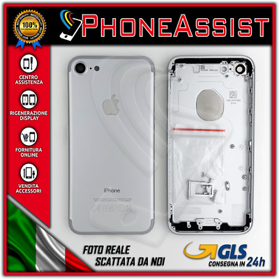 TELAIO SCOCCA POSTERIORE iPhone 7 BACK COVER MIDDLE Argento Bianco Silver