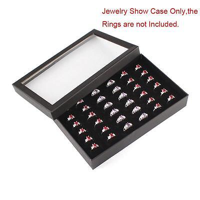 100 SLOTS Ring Storage Ear Pin Display Box Jewelry Organizer Holder