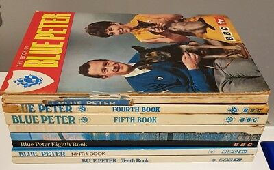 VINTAGE Blue Peter Annuals 1,4,5,6,7,8,9 and 10