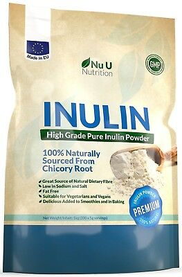 Nu U Nutrition Inulin High Grade Prebiotic Fibre Powder, 1kg