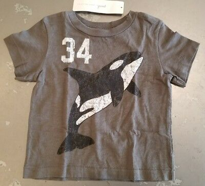 PEEK...Little Peanut ~ Baby Boys Killer Whale T-Shirt ~ Sz 6-12M ~ NWT