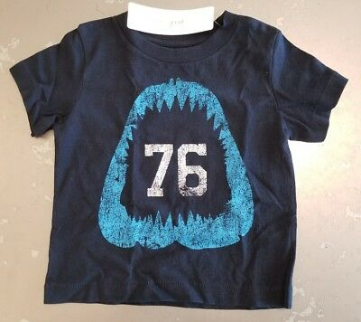 PEEK...Little Peanut ~ Baby Boys Chomp Shark T-Shirt ~ Sz 6-12m ~ NWT