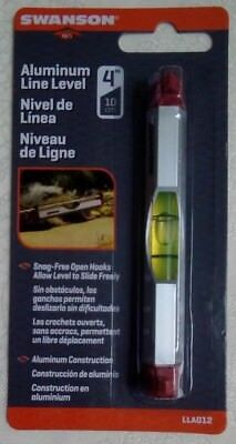 "Swanson 4"" Aluminum Line Level LLA012 Brand New - In Unopened Package"