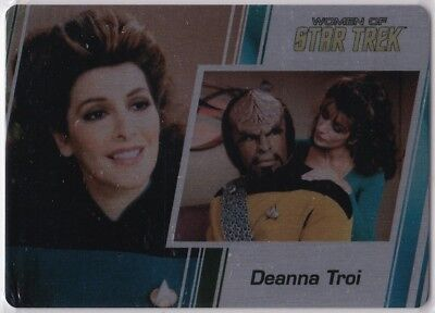 Star Trek Women Of 50Th Anniversary Metal Base Parallel Insert #35 Deanna Troi