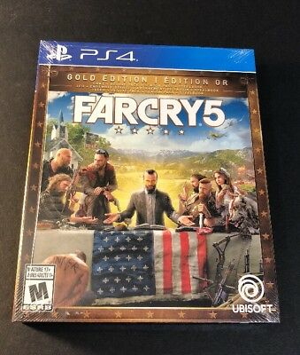 Far Cry 5 GOLD Edition [ Game + Season Pass + STEELBOOK Package ] (PS4) NEW