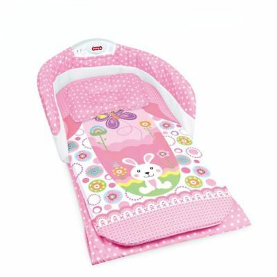 Baby Foldable Portable Travel Light and Sounds Bed by Babyhugs - Pink