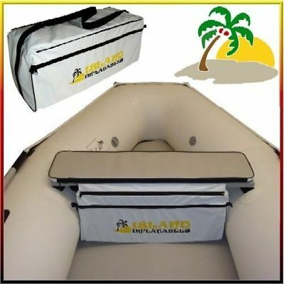 INFLATABLE BOAT SEAT CUSHION & Underseat REMOVABLE CARRY BAG. Genuine ISLAND NEW