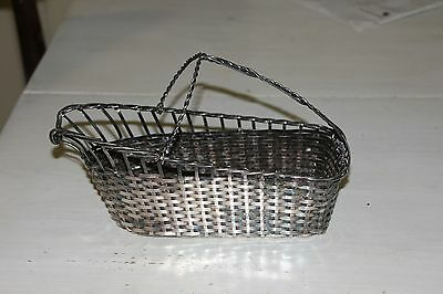 Woven Silverplated Wine Pouring Basket by Israel Freeman and Son