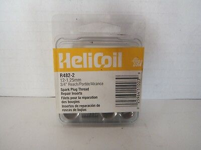 Helicoil 12-1.25MM  R482-2 Inserts 6pcs