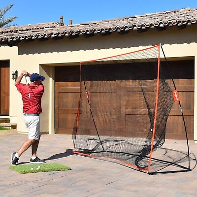 GoSports Golf Practice Hitting Training Net Huge 10' x 7' Indoor Outdoor Driving