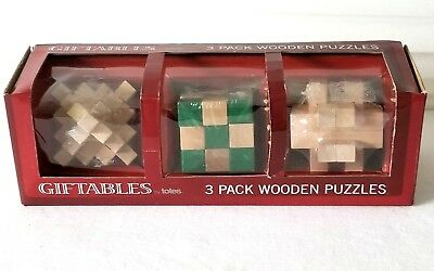 New Totes 3 Pack Wooden Puzzles Stimulate Your Brain 1250