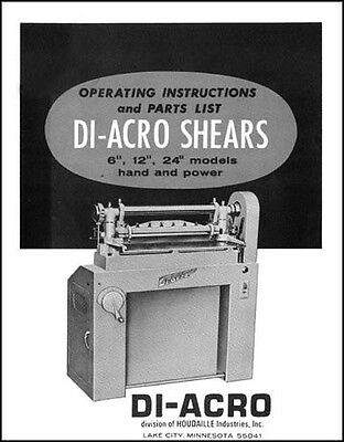 Diacro 6, 12 & 24 Hand & Power Shear Manual