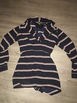Size 8 plunge Playsuit striped Summer Night Out