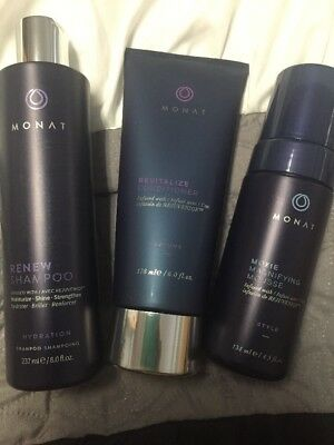 Monat Magnify Treatment System - Renew Hydration Shampoo + Revitalize Volume Con