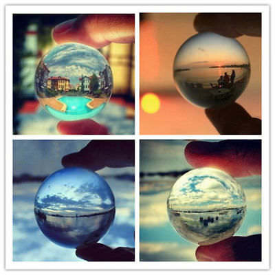 40-100mm Clear Glass Crystal Ball Healing Sphere Photography Photo Ball Gifts