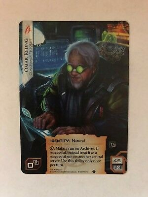 x1 Netrunner Chaos Theory Wunderkind Alternate Art Promo identity shaper card