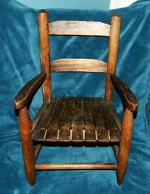 Wonderful Old Antique Child's Chair!! Primitive! Use For Dolls/bears