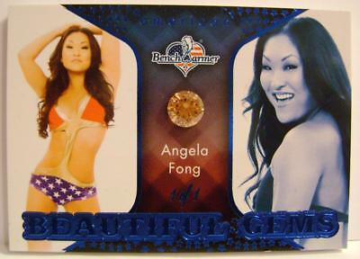 Angela Fong 1/1 1 Of 1 Blue America The Beautiful Gems Bench Warmer Ultra Rare