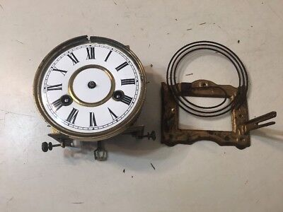 Antique FMS Mauthe German Vienna Style Wall Clock Movement