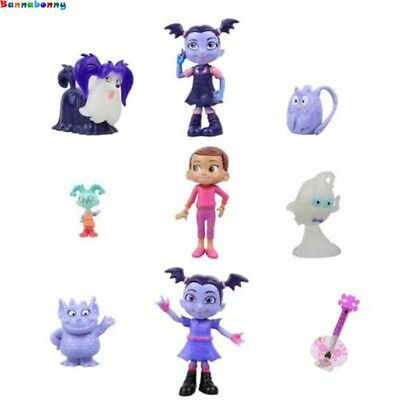 9PCS/Lot Junior Vampirina The Vamp Action Figures Toy Doll for Kids Baby gifts