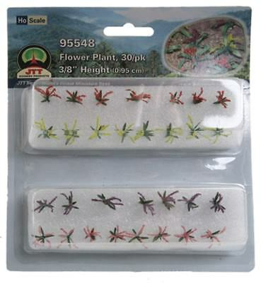 """JTT Scenery Products - Flower Plants, Red/Pink/Yellow/Purple 3/8"""" (30)"""