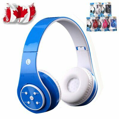 Bluetooth Wireless Headset Foldable Over Ear Headphones Mic Earphone Canada