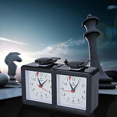 New Analog Chess Clock I-go Count Up Down Timer for Game Competition Sports