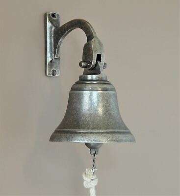 SHIPS BELL-SOLID BRASS 100mm DIAMETER-6 FINISHES-WALL FIX-door-doorbell-dinner