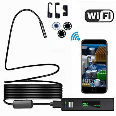 LOT 8LED Wireless Endoscope WiFi Borescope Inspection HD 1200P Camera Waterproof