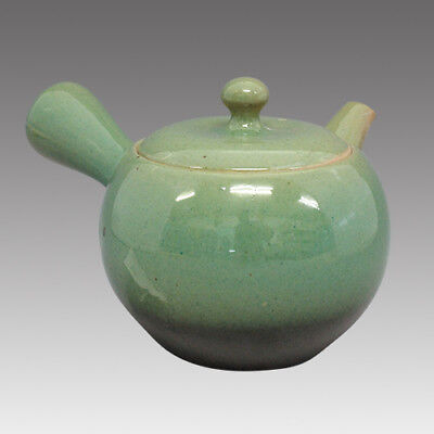 Tokoname Kyusu teapot -ISSIN -Green glaze 360cc/ml -Refresh stainless steel net