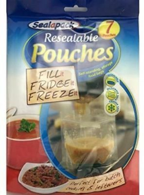 Sealapack Resealable Food Soup Bag Pouches Fill Fridge Freeze 1 Ltr Storage & POUR AND STORE Bags Resealable Liquid Storage Pouches Self ...