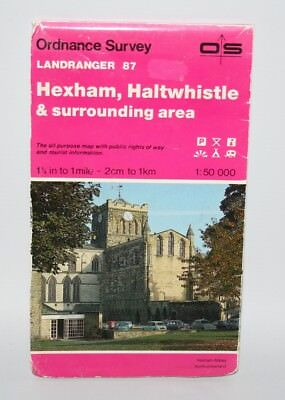 Ordnance Survey Landranger Map - Hexham & Haltwhistle - sheet 87 - 1985