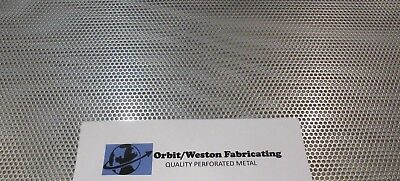 """11 Gauge (1/8"""" Thick) 1/8"""" Holes 304 Stainless Steel Perforated Sheet  6"""" X 6"""""""
