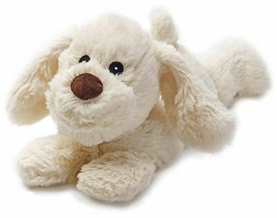 Warmies Cozy Plush Microwaveable Soft Toy - Laying Puppy (Cream)