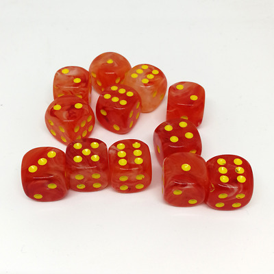 Set d6 Ghostly Glow Orange w/yellow - CHX 27723