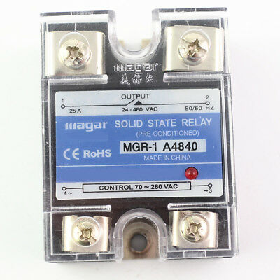 Solid State Relay Module SSR-40AA 40A  70-280V AC Input 24-480VAC Output A4840