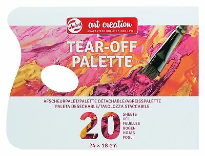 Talens Art Creation Tear-Off Disposable Painting Palette 18 x 24cm (20 Sheets)