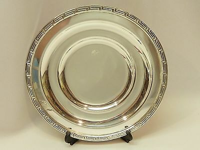 """6 BEAUTIFUL SILOR SILVER PLATED 6-3/4"""" GREEK KEY PLATE Heavy Plates Saucers"""