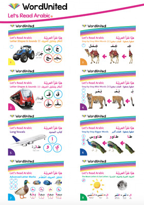 Let's Read Arabic – Step-by-Step Mini Words - Complete Set (8 Books) Full Colour
