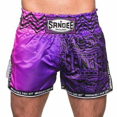 Sandee Warrior  Muay Thai Boxing Shorts - 2 Tone Purple