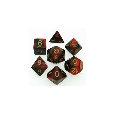 Set di dadi misti Gemini Black-Red w/gold - Chessex CHX 26433