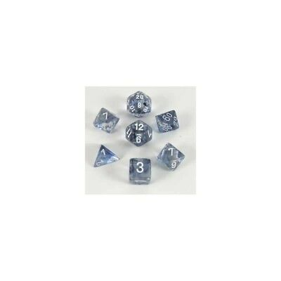Set di dadi misti Nebula Black w/white - Chessex CHX 27408