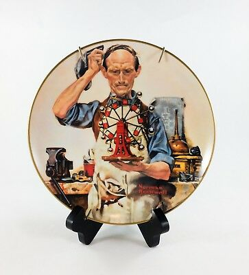 Norman Rockwell Collector Plate The Inventor 1980 Early Works of Rockwell