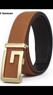 MENS DESIGNER BELTS FOR MEN LETTER G BUCKLE FASHION LUXURY LEATHER 32mm BELTS