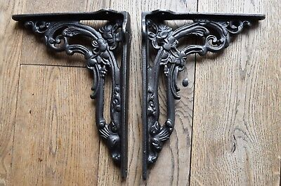 Pair Of Victorian Style Cast Iron Foliage Brackets Shelf Bracket Cistern  Fb1